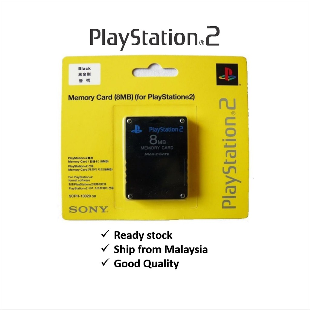 Ps2 High Quality 8mb Memory Card