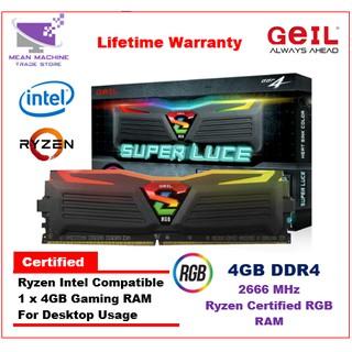 GeIL Evo Potenza 8GB DDR4 2666 Mhz Dual Channel PC Gaming