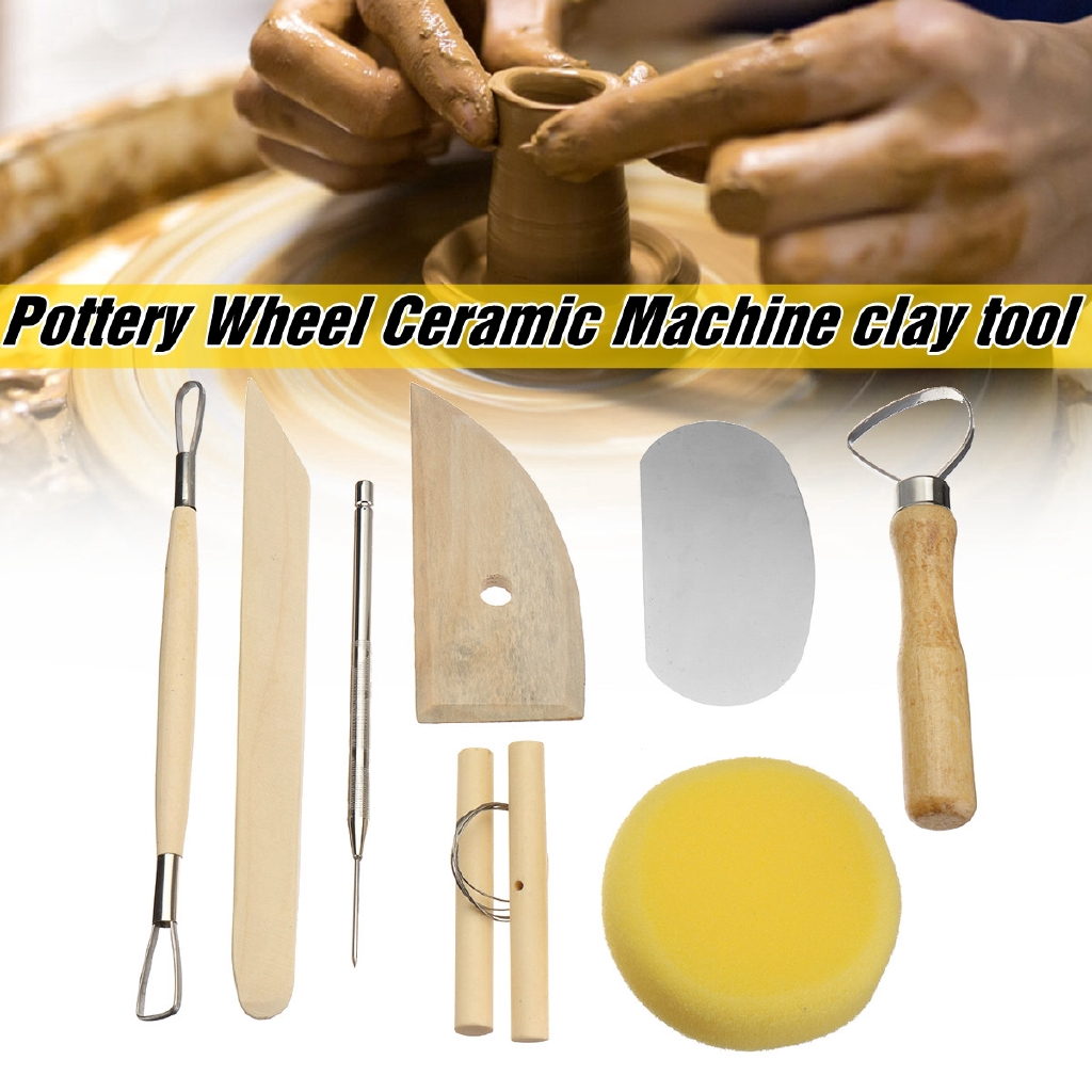8pcs High Quality Pottery Wax Polymer Clay Carving Carvers Sculpting Craft Tools