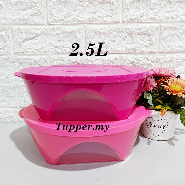 *1pc/2pcs*Tupperware Outdoor Dining Bowl 2.5L Level  -Pink