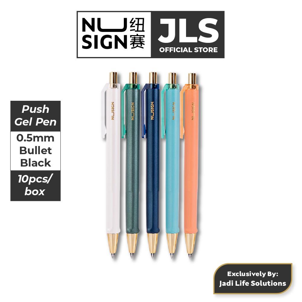 Jadi Nusign Businessclass Push Clip Gel Pens Multi Color 10-Pcs