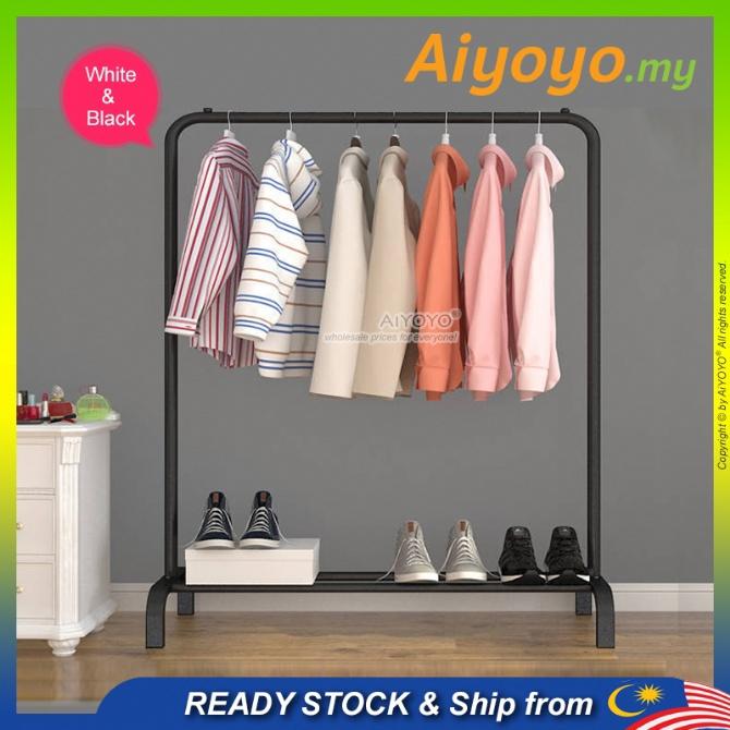 Standing Clothes Hanger Cloth Organizer Cloth Hanger Rack Rak Baju Rak Pakaian Gantung Baju Laundry Rack Garment Rack Dr