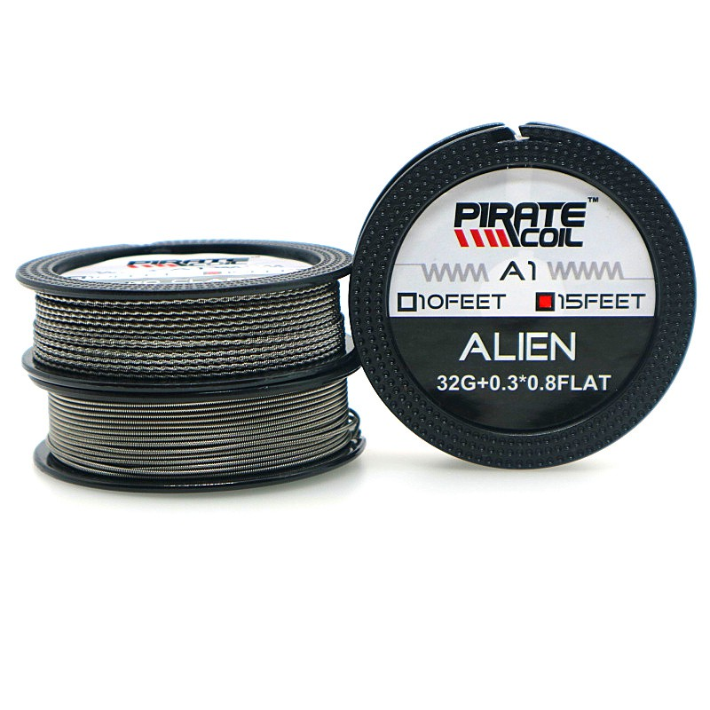 PIRATE COIL A1 Resistance Wire Alien Fused Clapton Wire 15 Feet