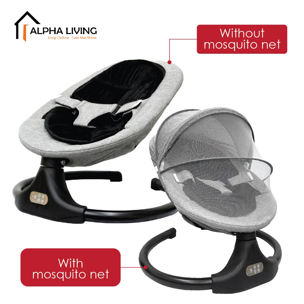 READY STOCK!! New Model Auto  Baby Cradle Swing Leaf Shape Rocking Chair (BAY0145)