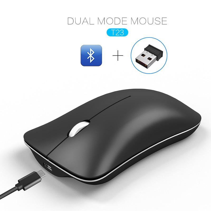 e13979978c9c Mini Silent Mouse Bluetooth 4.0 USB Dual Mode 2.4G 1600dpi Optical Mouse