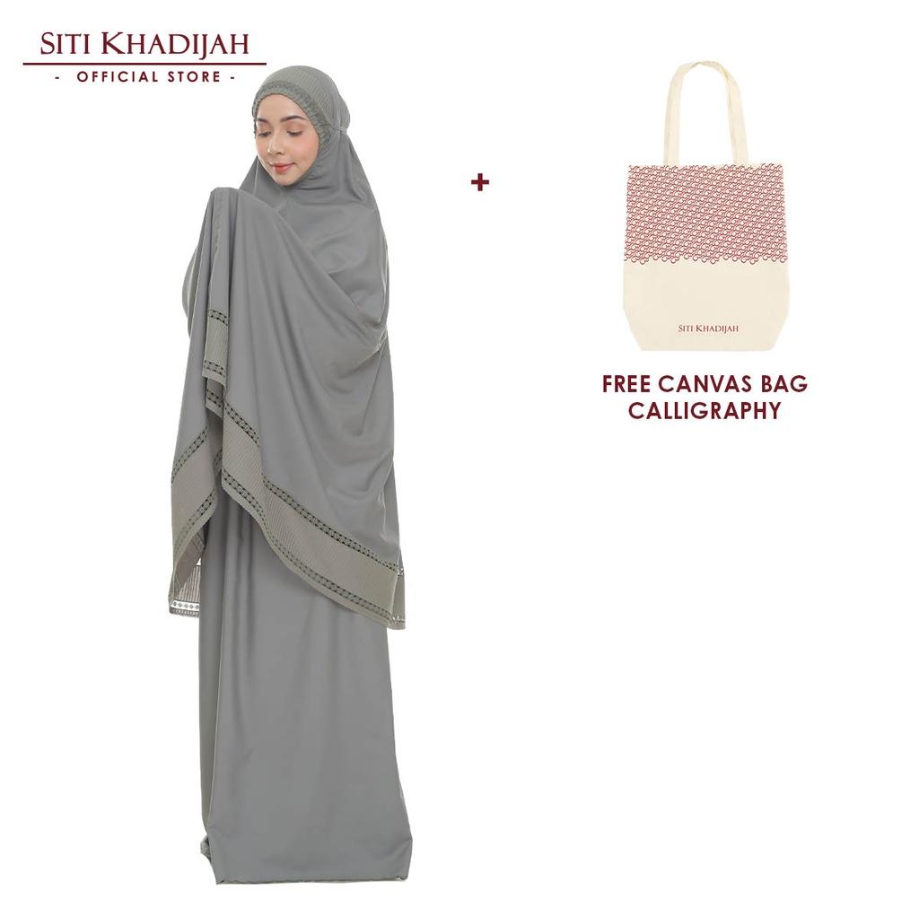 [Mawlid Sale] Siti Khadijah Telekung Signature Rumi Color + Free Canvas Bag Calligraphy
