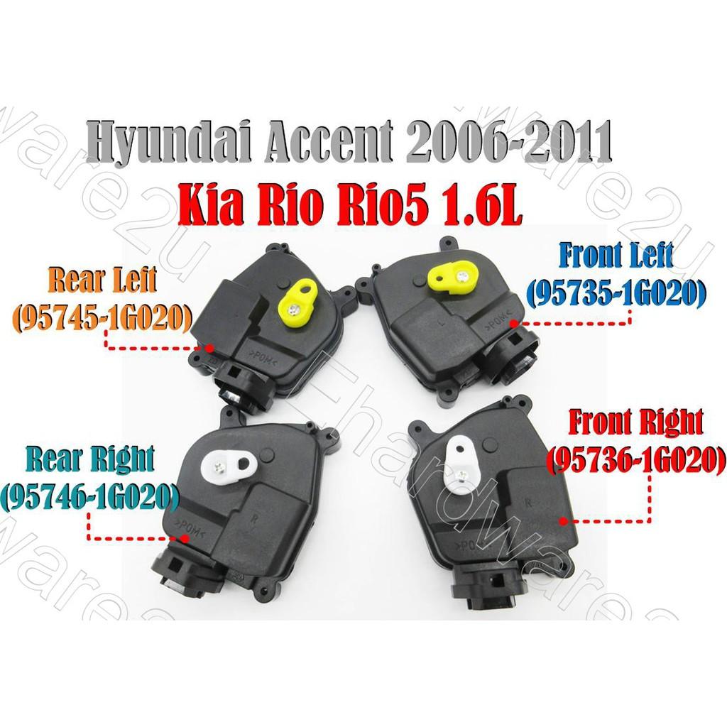 Hyundai Accent Kia Rio Rio5 Door Lock Actuator (957XX-IG020)