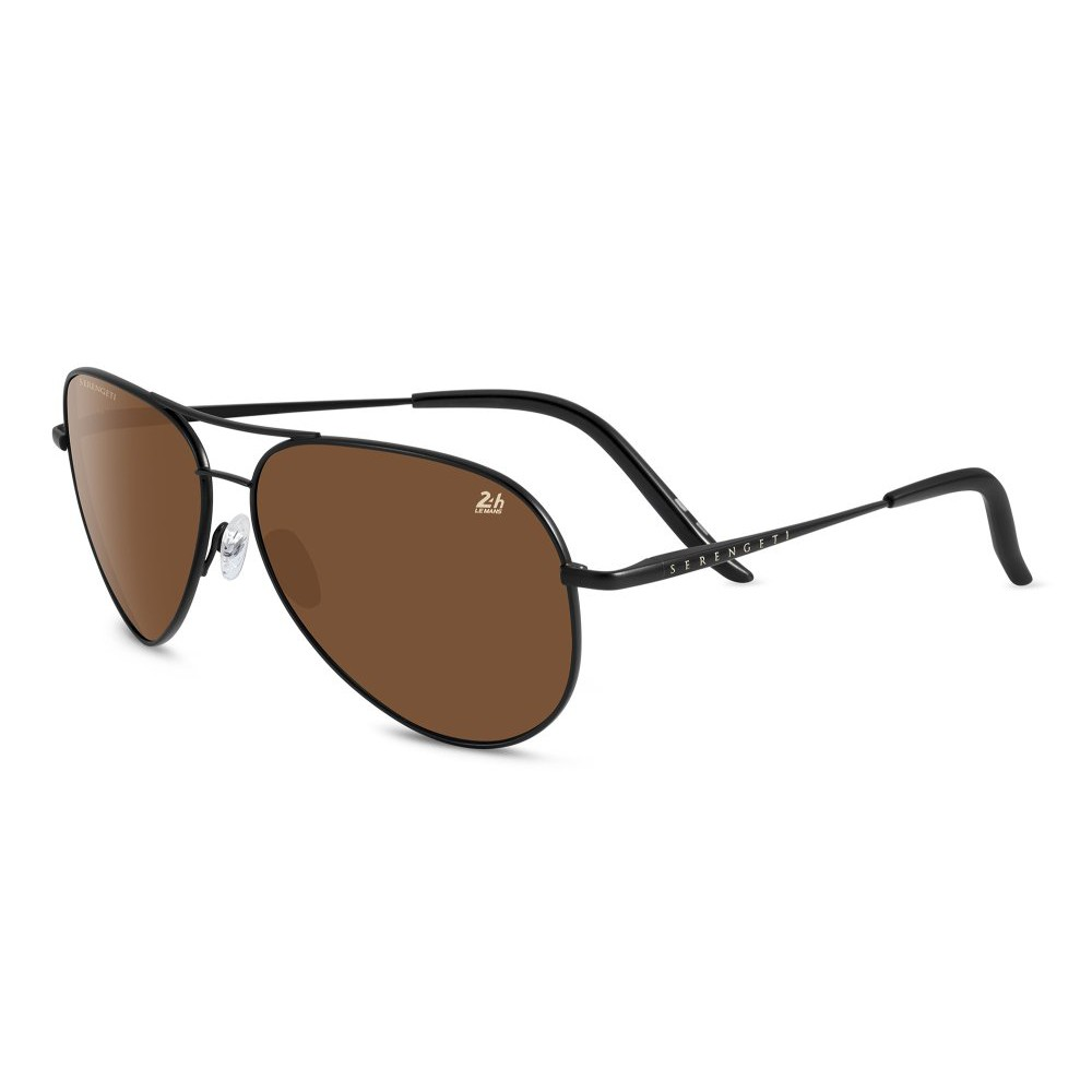 f210b3dc3fcf Serengeti Lerici 8348 Polarized Lens Sunglasses - Satin Black (555nm ...