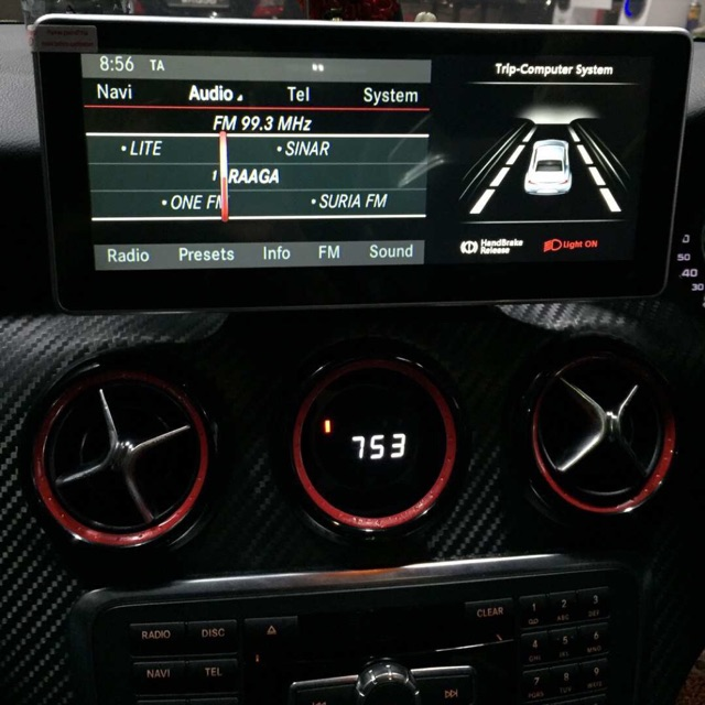 """Mercedes Benz w176 a45 10 2"""" android player monitor 4g WiFi hotspot car W176"""