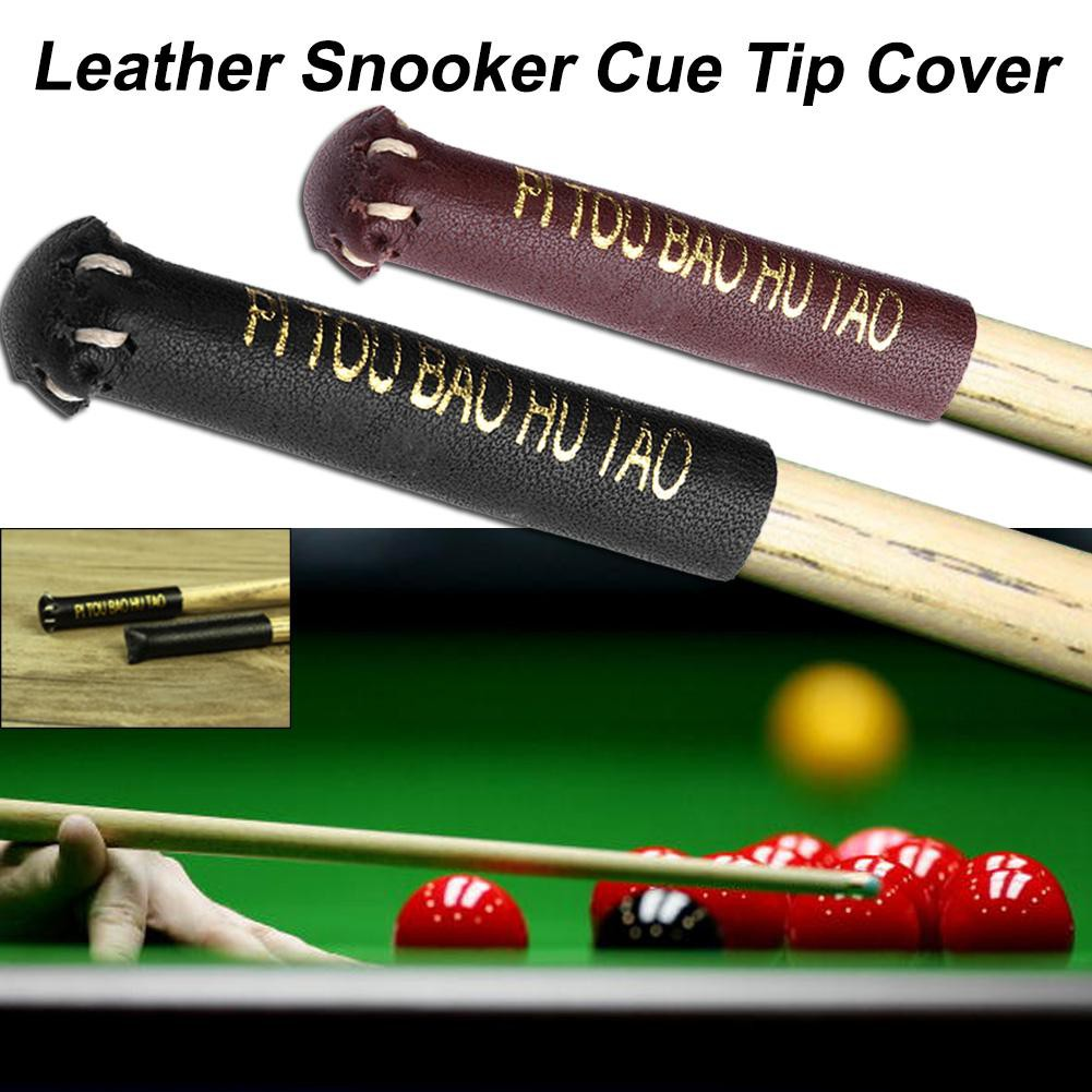 *Snooker Billiard Stick Practical Leather Snooker Cue Tip Cover Protector  Sleeve