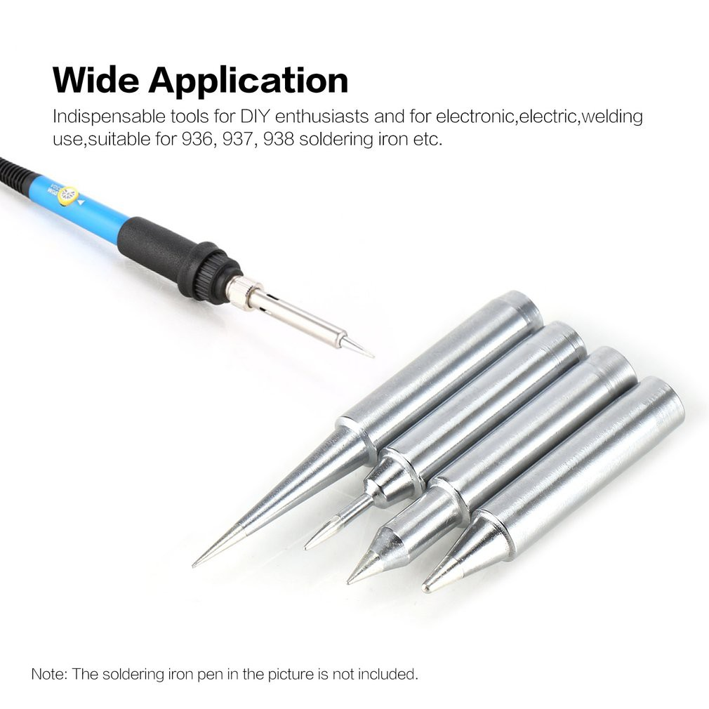10pcs Lead-Free Soldering Solder Iron Tips 900M-T For 936 937 938 Series welding