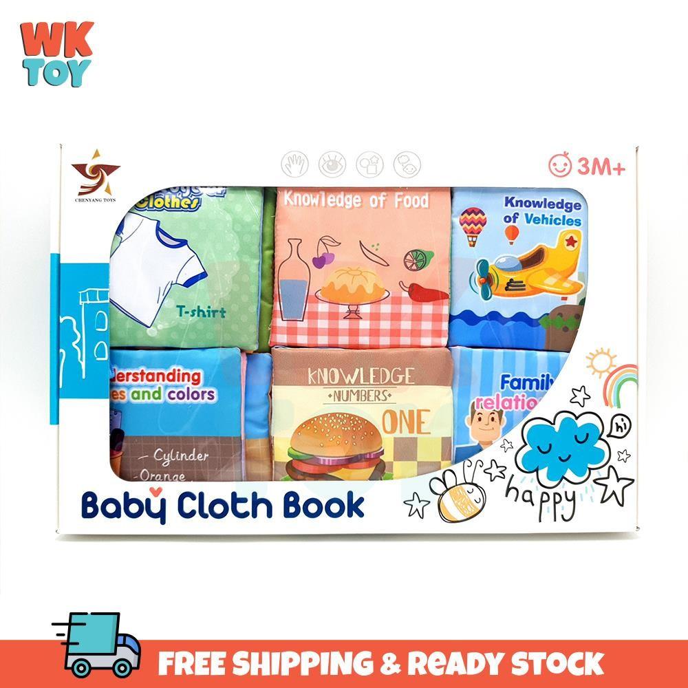 WKTOY Baby Cloth Book Early Learning Soft Book Cartoon Animal
