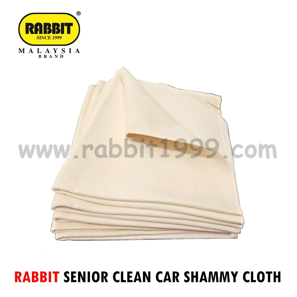 1xpcs RABBIT SENIOR CLEAN CAR SHAMMY CLOTH [While Stock Last]- kain lap cermin/ car wash cloth