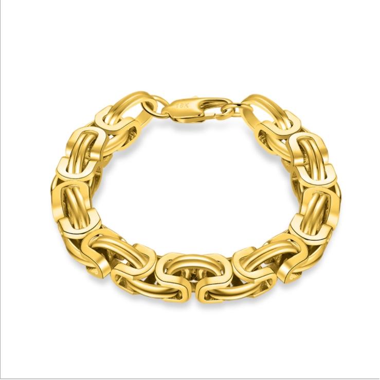 High Fashion Hip-hop Style Punk Gold Bangle Bracelet Men Thick Chain Length 20cm