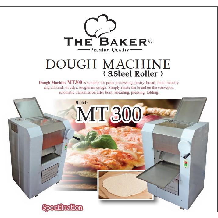 THE BAKER MT300 1500W 300MM WIDTH 140KG/HR DOUGH ROLLER FLOUR KNEADING MACHINE