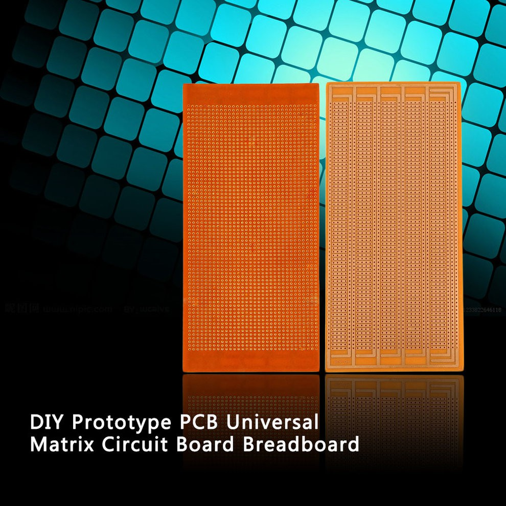 Ma Diy Pcb Prototype Printed Circuit Board Matrix Stripboard 17pcs Kit Prototyping Breadboard Shopee Malaysia