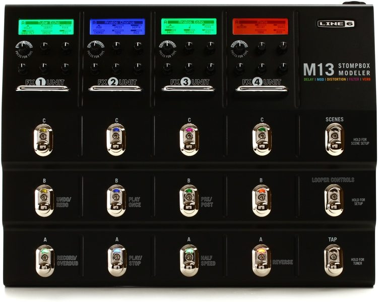 LINE 6 M-13 STOMPBOX MODELER Guitar Multi-Effects Pedal Save Up To 48 Different Pedalboard Scenes (M13)