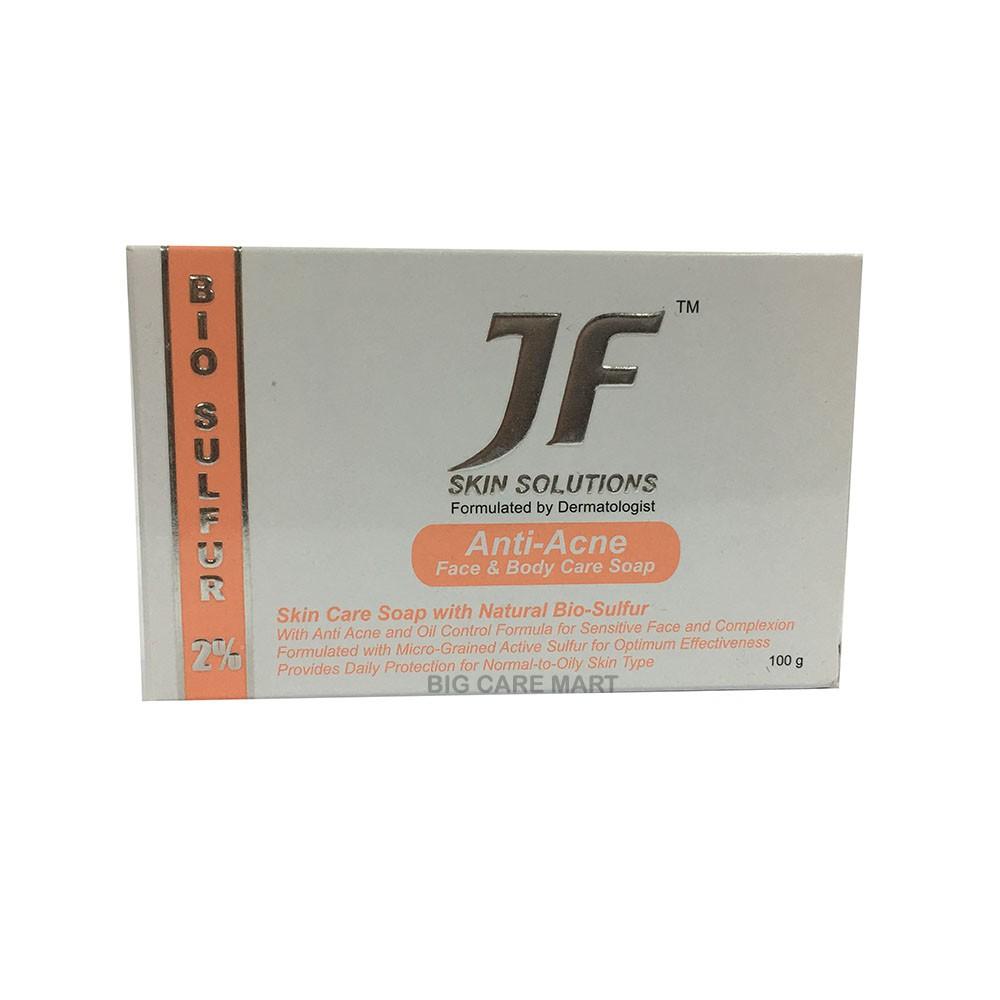 Jf Bio Sulfur Soap 2% Anti Fungal & Acne Cleanser 100g