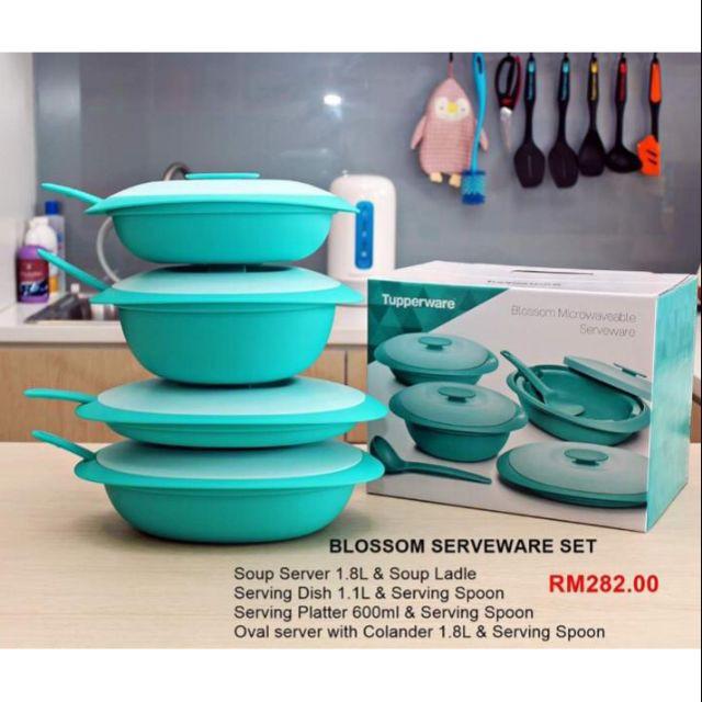 Tupperware Blossom Microwaveable Serveware Set + Box