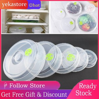 5x Portable Microwave Oven & Refrigerator Food Ventilated Round Plastic  Cover