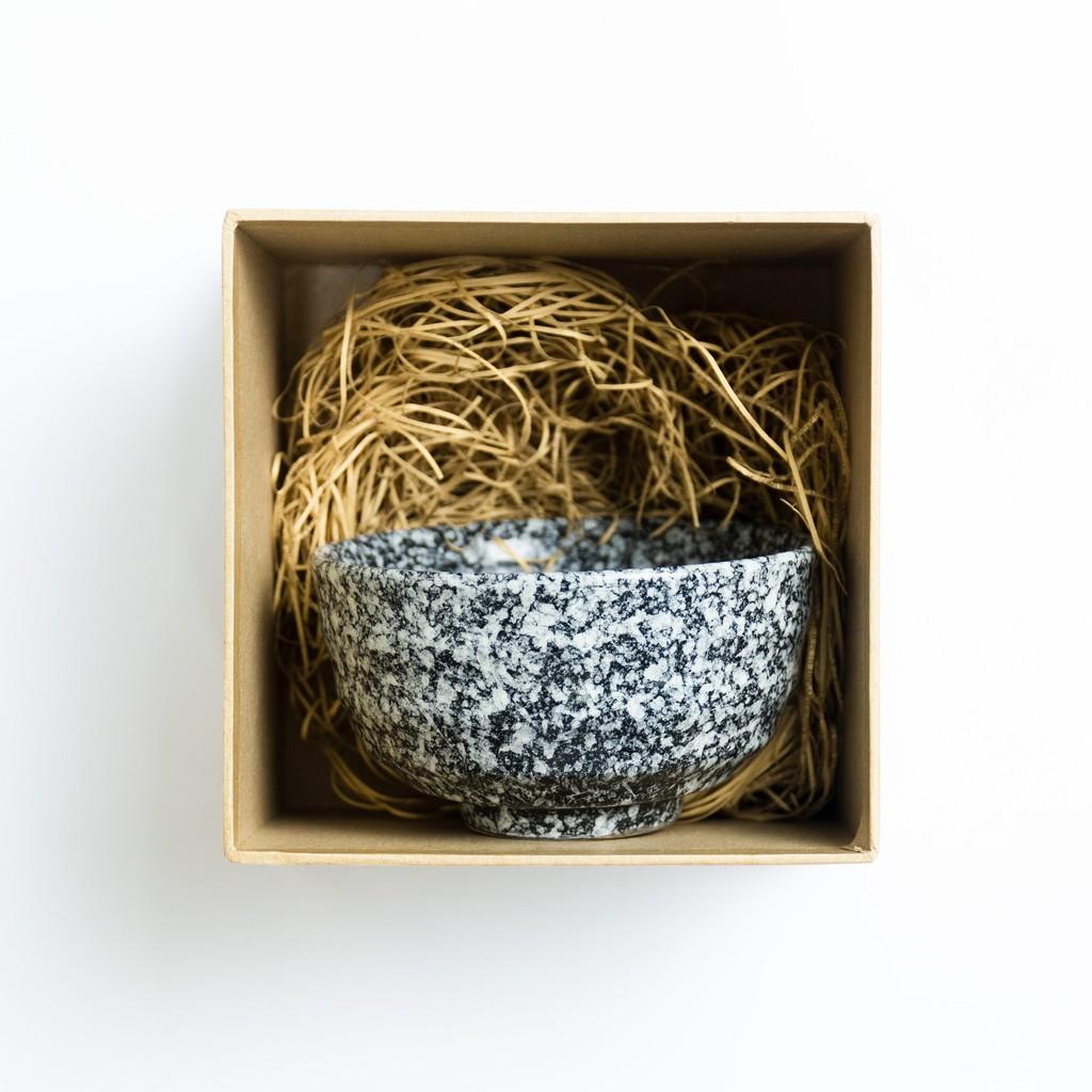 11cm Kurotoshiro Japanese White Dots Style Ceramic Bowl Tableware Soup Bowl Mangkuk Jepun 日式陶瓷碗