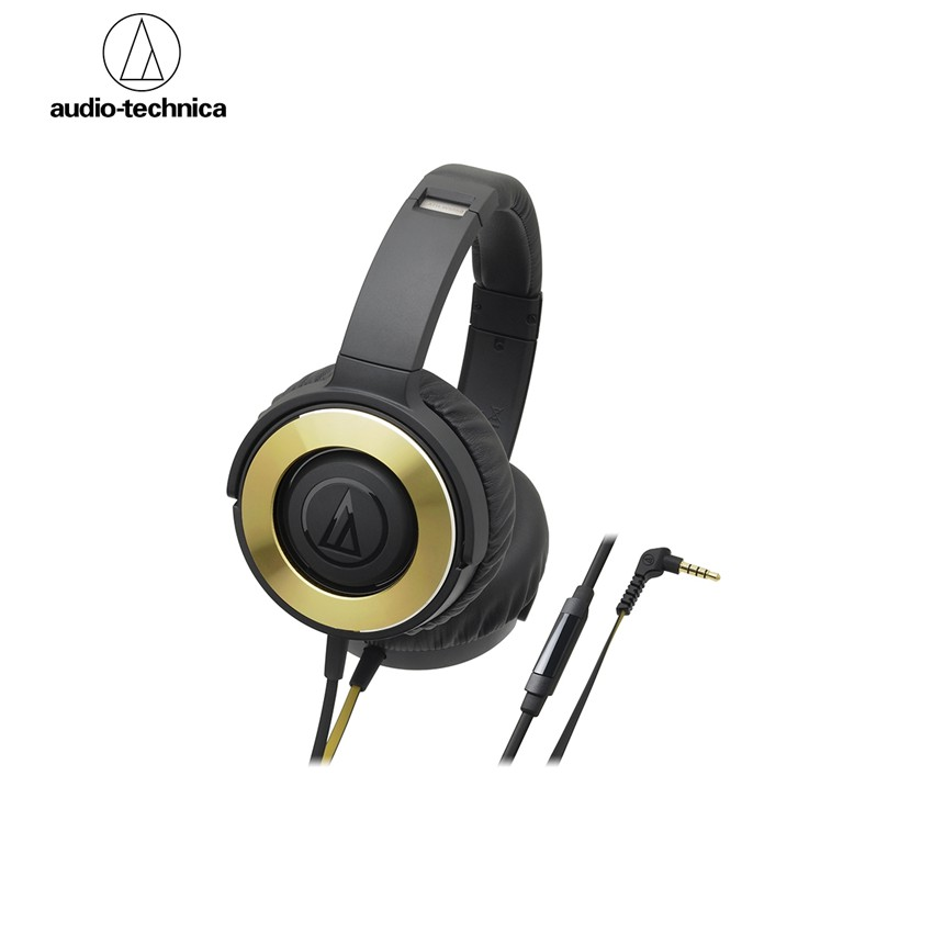 Audio-Technica ATH-WS550IS Solid Bass Over Ear Headphone  - Black Gold