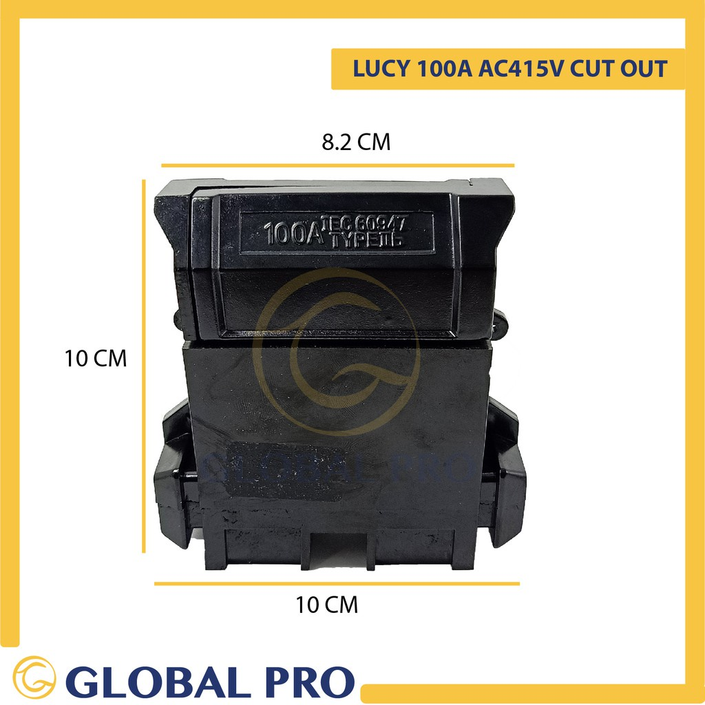Stock item TNB LUCY 100A 250V/ 415V Cut Out Unit With Fuse