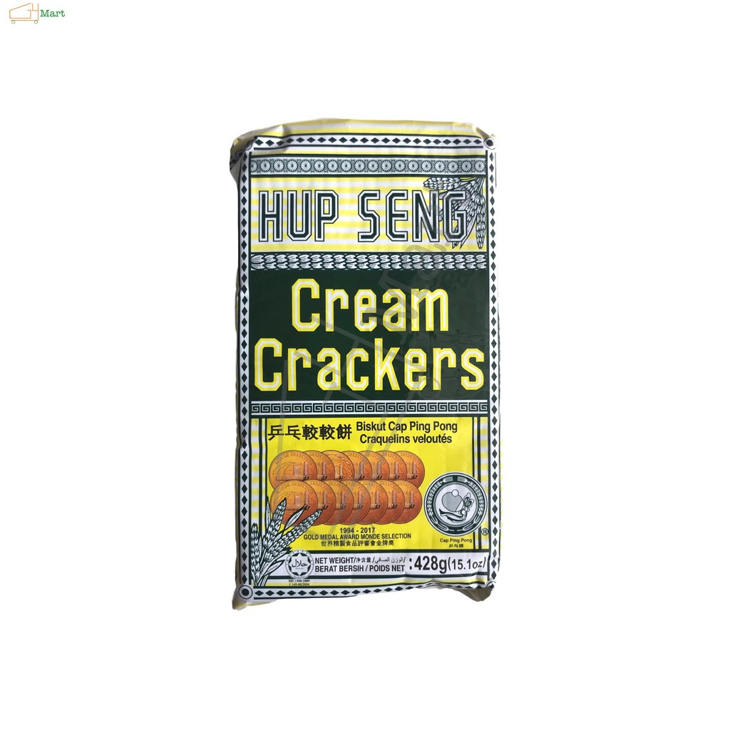 Hup Seng Cream Crackers 428G 兵乓较较饼 Biskut Cap Ping Pong
