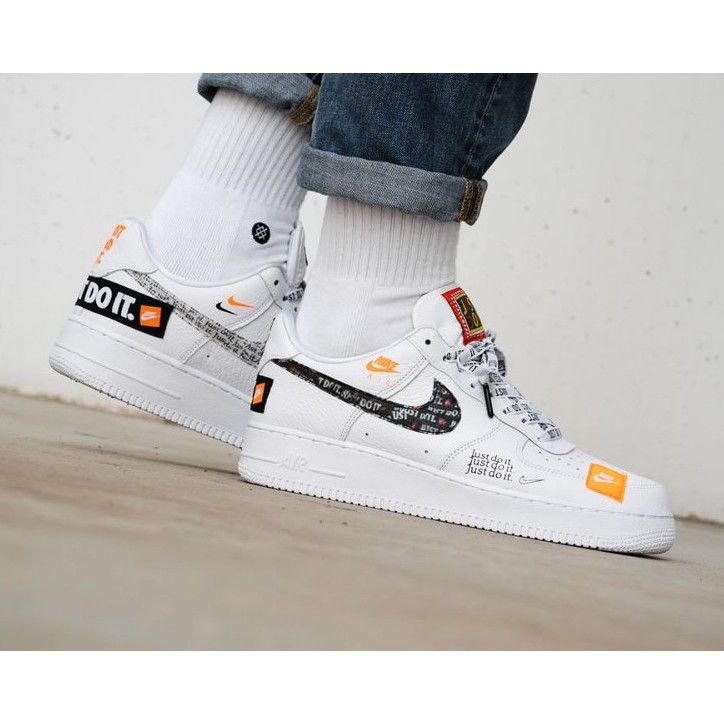 reputable site 2c2c8 b6868 *Instock* Nike Air Force 1 Low Just Do It Inspired