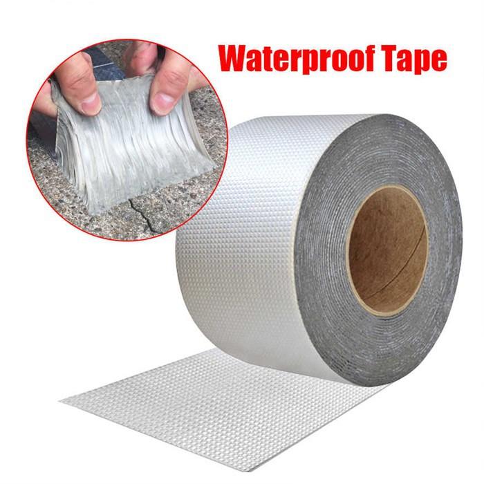 MALAYSIA: TAPE KUAT SIMEN PAIP BUMBUNG/ Waterproof Tape Butyl Rubber Aluminium Foil Tape for Roof Pipe Repair