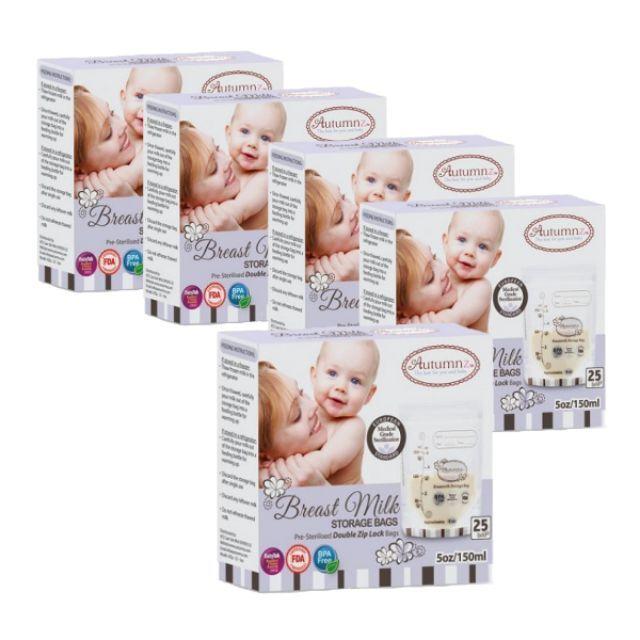 Set of 5 box Autumnz - Double ZipLock Breastmilk Storage Bag