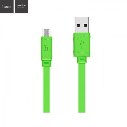 6996d37ed52be1 ORIGINAL HOCO X5 MICRO USB BAMBOO CHARGING CABLE 1 METER - GREEN ...