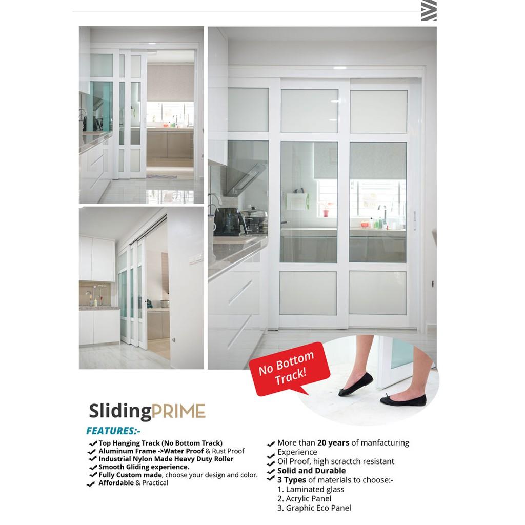 Pre Order Only Sliding Door Lami 3 Panel Kitchen Door Pintu Dapur Hanging Door Sliding Glass Door Pintu Gelongsor Shopee Malaysia