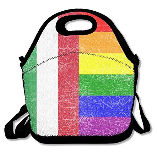 b3acc9f98cd9 Gay Pride Rainbow Italy Flag Lunch Bag Tote Handbag Lunchbox