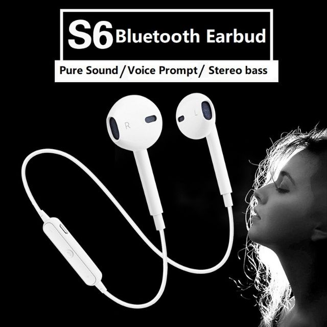 ???????? Sports Bluetooth Wireless Earbuds with Microphone S6 Earphone