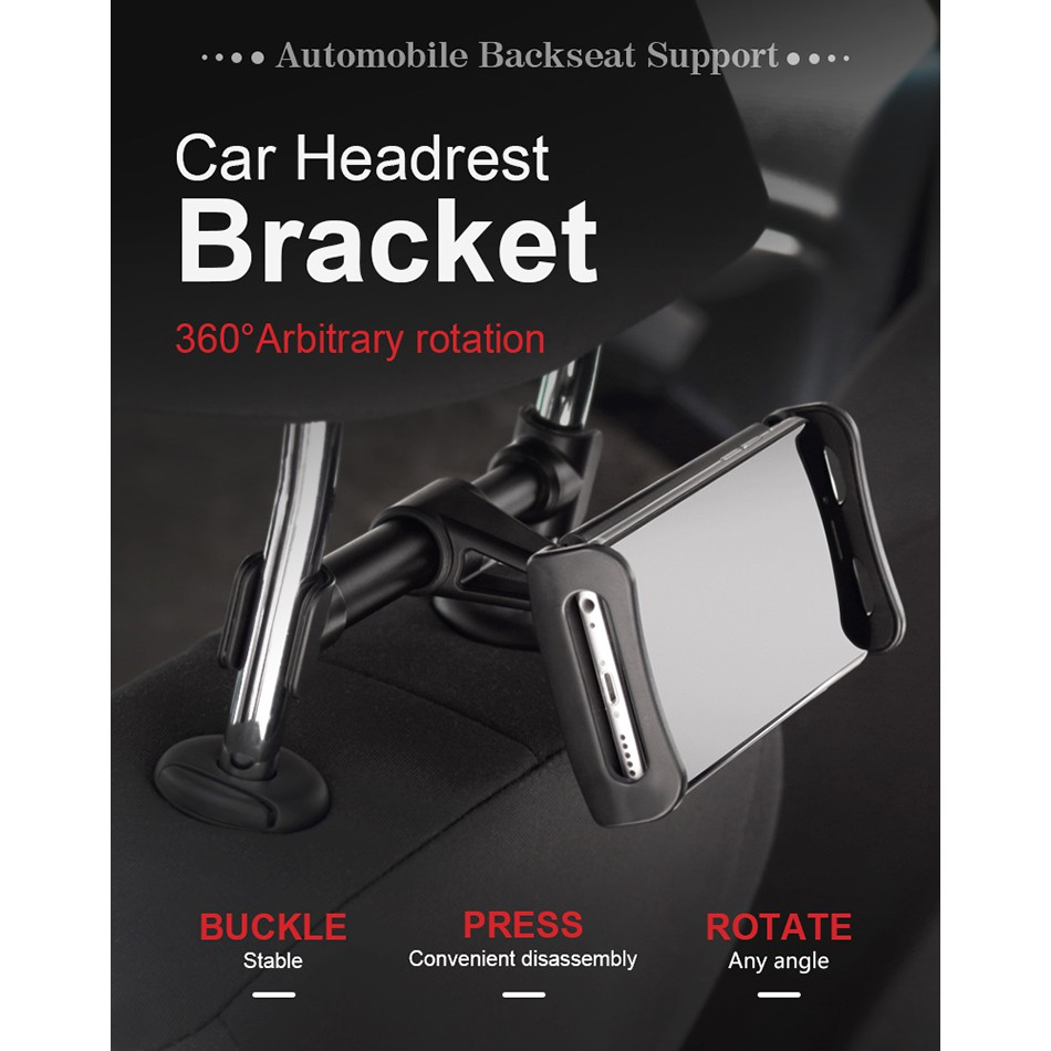 Car Holder Stand Back Auto Seat Headrest Bracket For iPad tablet phone