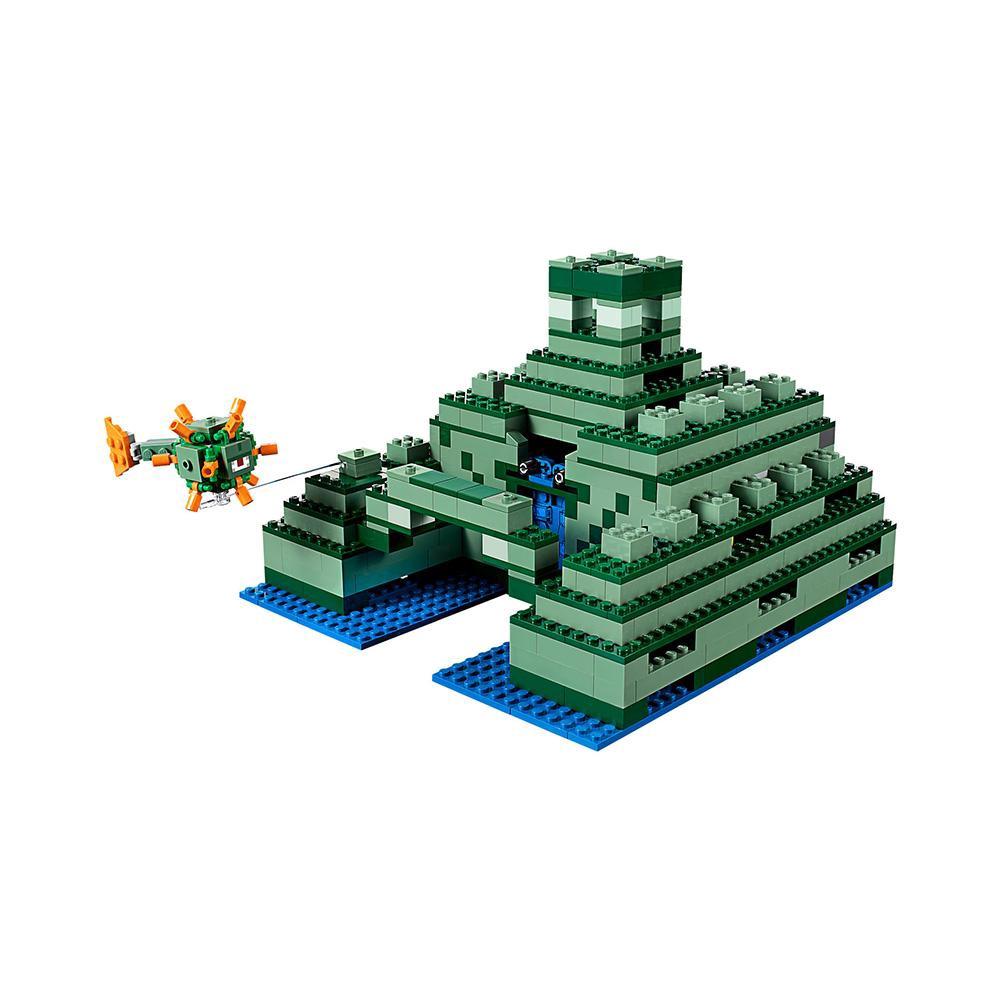 LEGO New Minecraft Elder Guardian Ocean Monument Minifigure Assembled