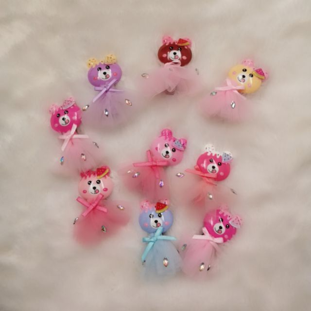 Baby Kids Girls Hair Accessories hair pin 熊熊🐻🐻 发夹 边夹
