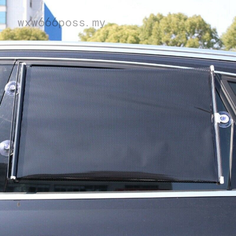 2 X 55CM CAR WINDOW SUN SHADE AUTO ROLLER BLIND SCREEN PROTECTOR PROTECTION KIDS