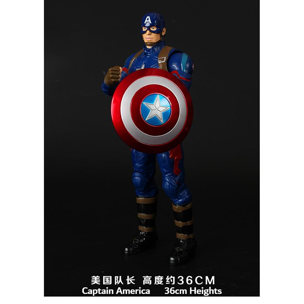 [MARVEL] Large 36cm Iron Man/Captain/Spider-Man Model Toy Complete Set 漫威美国队长模型