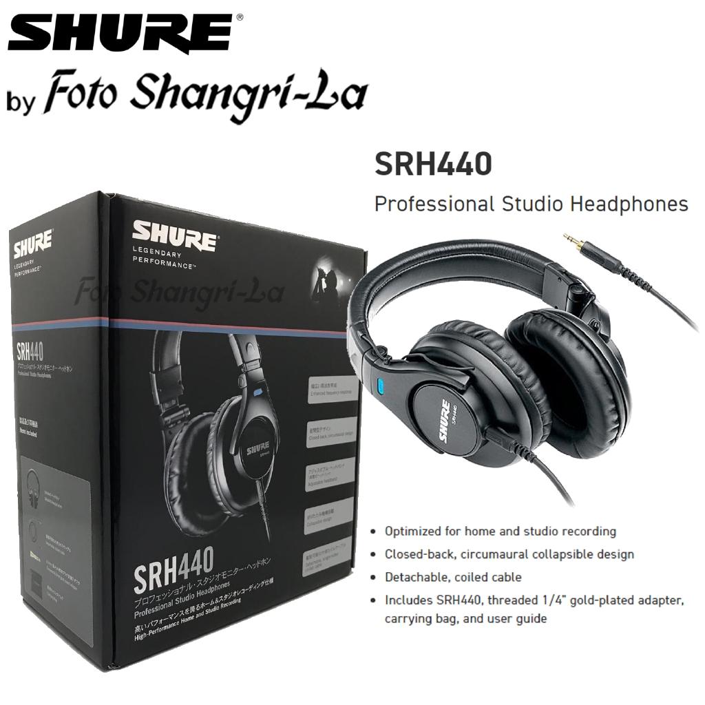 ed09f447936 Shure SRH440 Professional Studio Headphones for home and studio recording |  Shopee Malaysia
