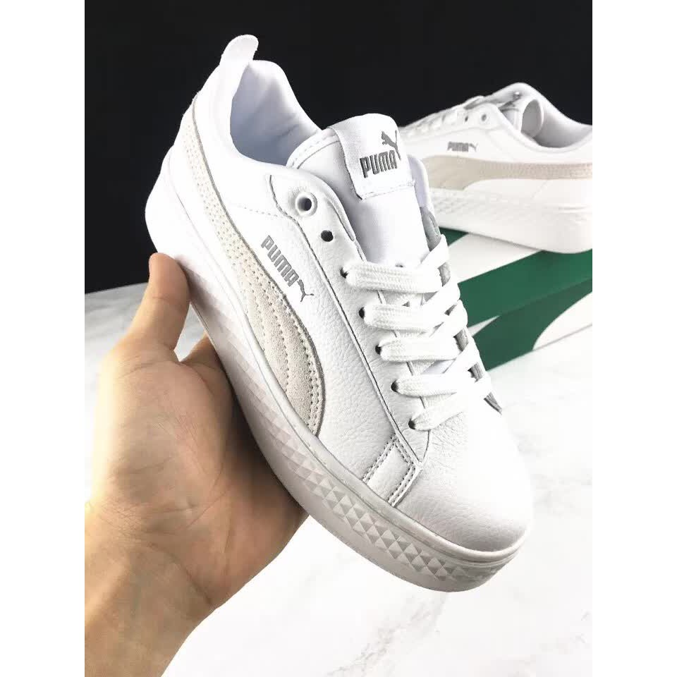 78e1f47642 Original PUMA Suede Cleated Creeper Women's First Generation Rihanna  Classic Basket Suede Tone Simple Badminton Shoes 36