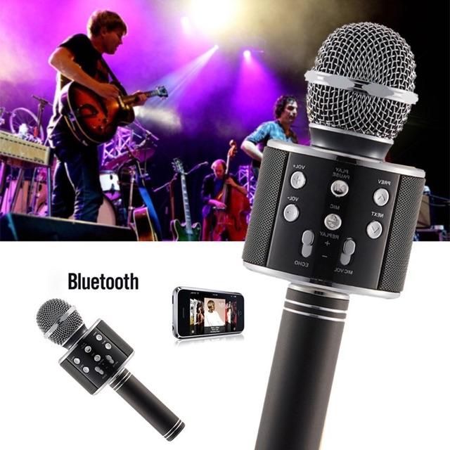 [READY STOCK & FAST SHIP] WS 858 MICROPHONE WIRELESS BLUETOOTH HANDHELD KARAOKE SPEAKER MIC USB HOME KTV MUSIC