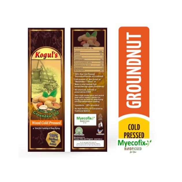 Natural Virgin Unrefined Wooden Cold Pressed Groundnut Oil