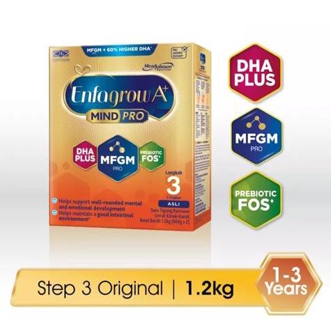 Enfagrow A+ MindPro Step 3 (Original) - 1.2kg (Milk Formula Powder) Exp 09/2022