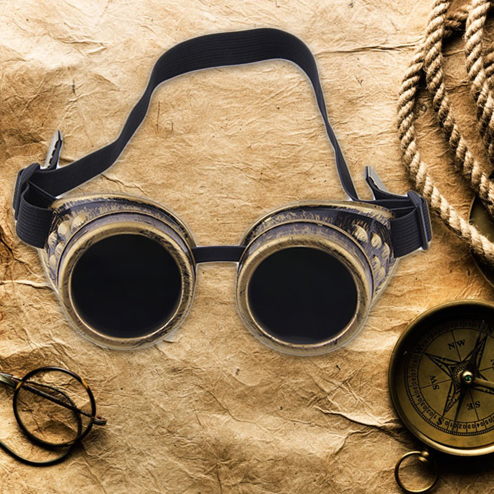 0516254a13317 Cyber Goggles Steampunk Glasses Vintage Retro Welding Punk Gothic Victorian