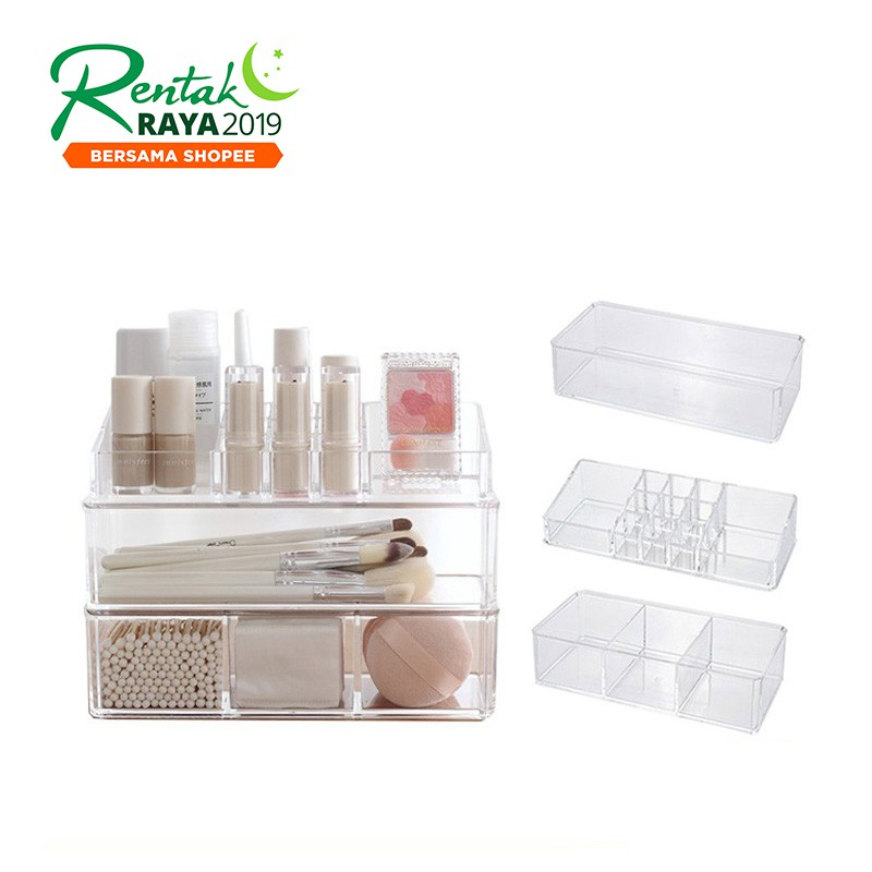 fffcdd50a5af Makeup Organizer Storage Box Acrylic Make Up Organizer Cosmetic Organizer  Drawer