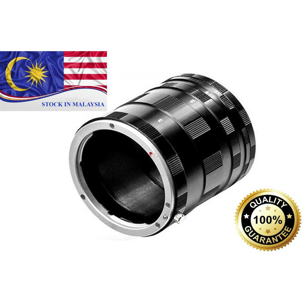 3 Ring Macro Extension Tube Set For Canon EOS EF (Ready Stock In Malaysia)