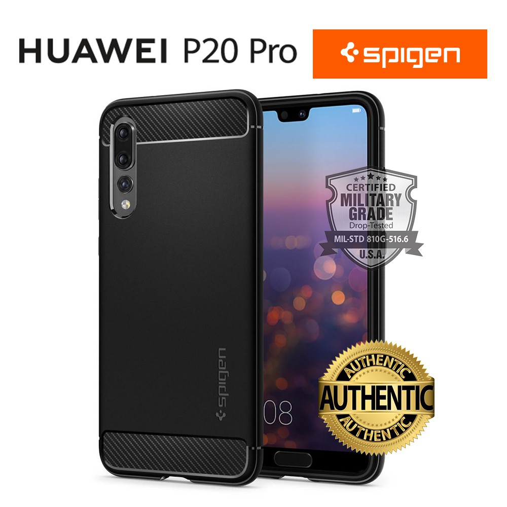 official photos d8c88 10887 YOHESO ORIGINAL SPIGEN Huawei P20 Pro Rugged Armor Phone Case Cover Casing