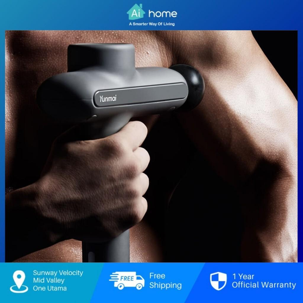 YUNMAI Massage Fascia Gun Pro Basic - 3 Level 4 Head Professional Massage   80 Days Battery Life [ Aihome ]